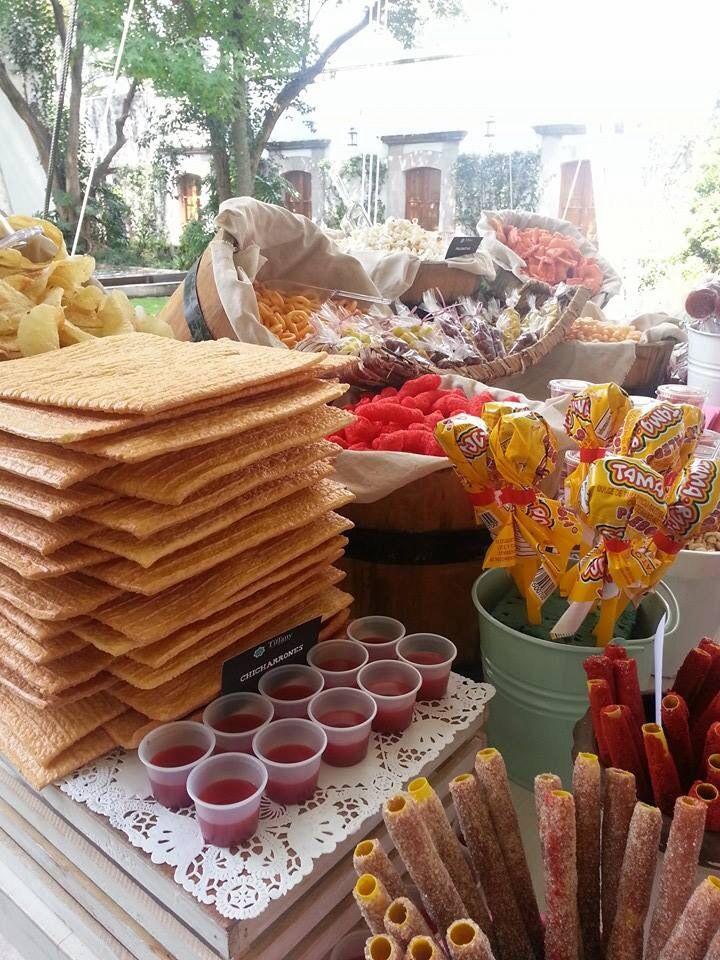 Decoracion Septiembre Mexico ~ boda mexicanas candybar mesas de snacks boda mexicana ideas mesa de
