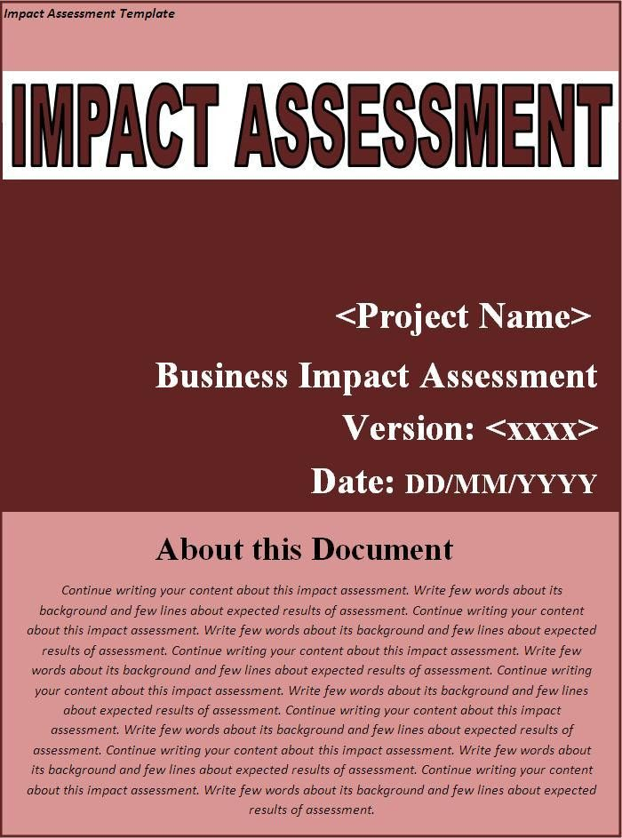 Impact Assessment Template | Free Printable Word Templates,