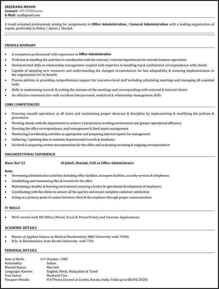 Office Assistant Resume Sample | Administrative Assistant Resume ...