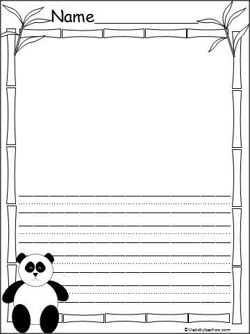 This is Panda writing paper available on Madebyteachers.com. The ...
