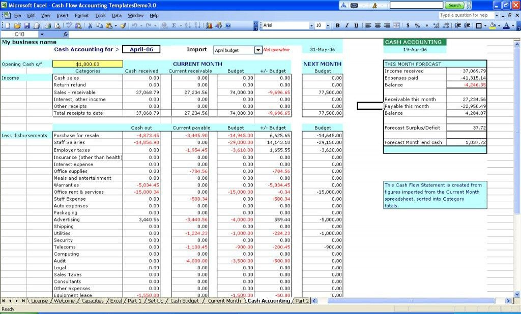 General Ledger Template | Excel Accounting Template