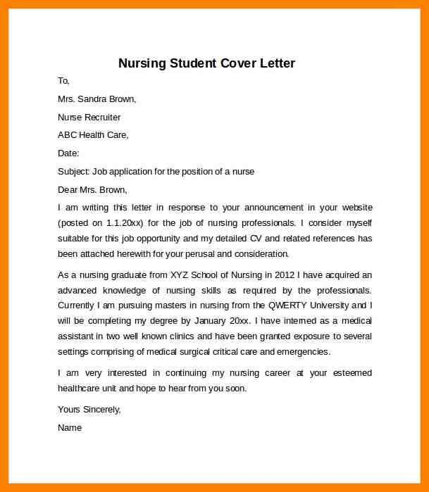 new grad nurse cover letter example recent graduate registered ...