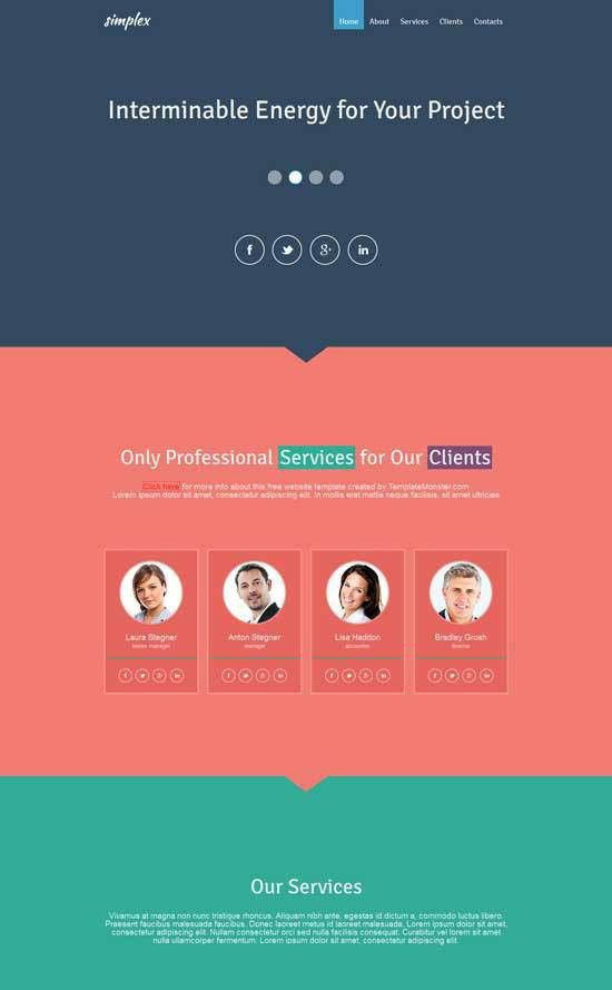 50+ Best Flat Design Website Templates Free & Premium - freshDesignweb