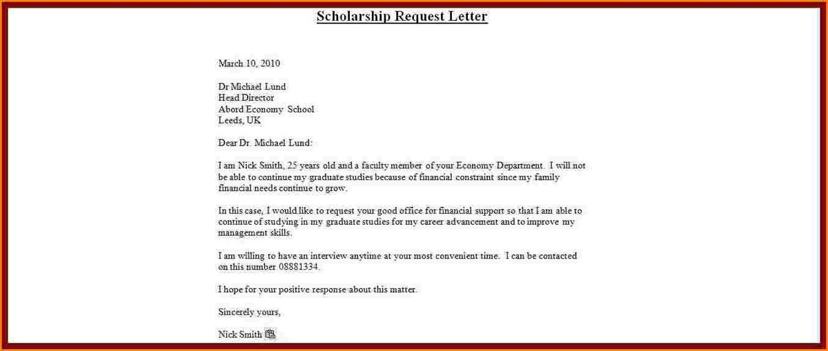 8+ sample application letter for scholarship grant | receipts template