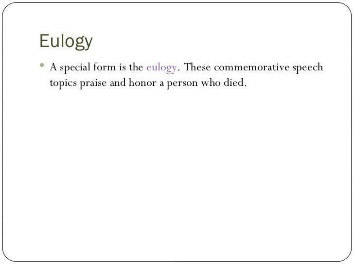Commemorative Speech Template