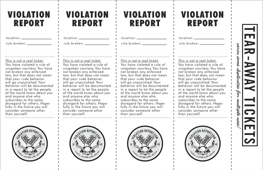 April | 2010 | VIOLATION REPORT