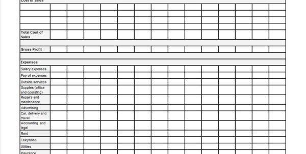 Free Spreadsheet Templates P&l Spreadsheet Template Spreadsheet ...