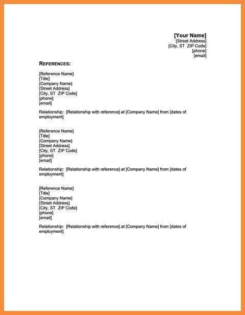 professional reference template | sample bio letter