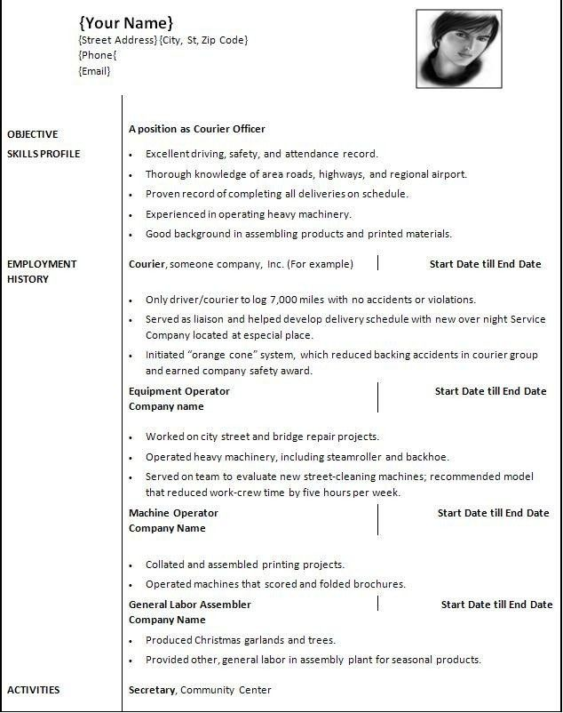 Word Template For Resume. Previousnext Previous Image Next Image ...