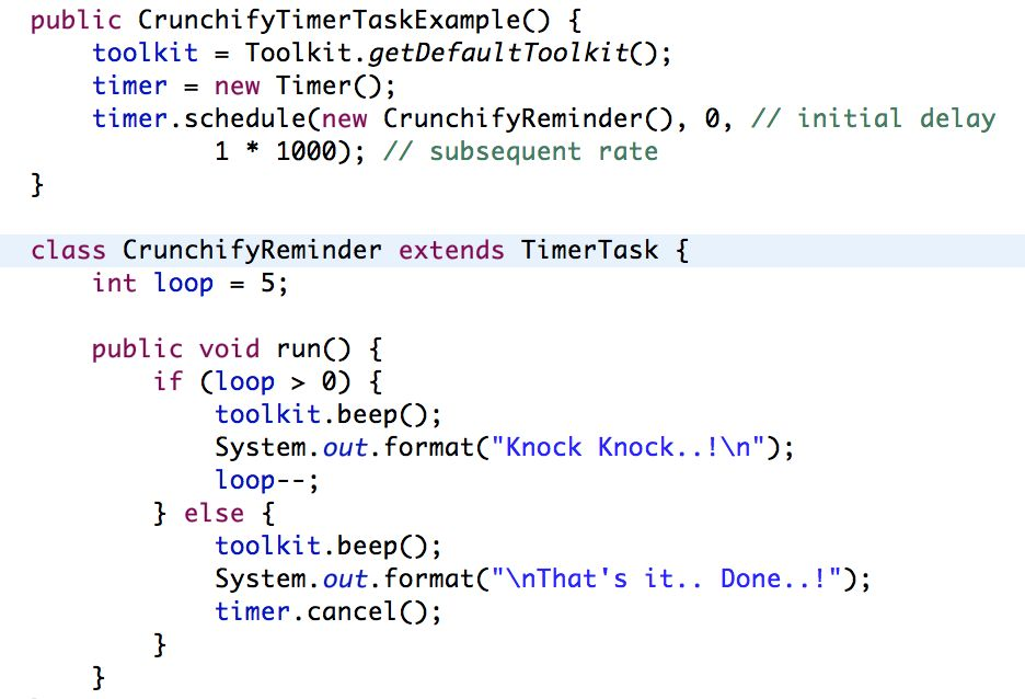 Java Timer and TimerTask - Reminder Class Tutorials Example ...