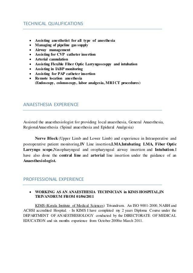 SAJID KN (Anaesthesia Technician cv)