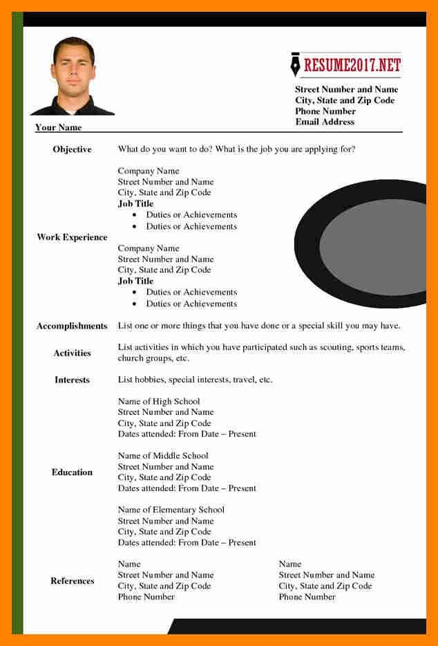 8+ updated cv format 2017 | resume sections
