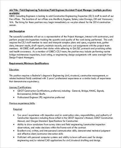 Construction Project Manager Job Description. Entry Level ...