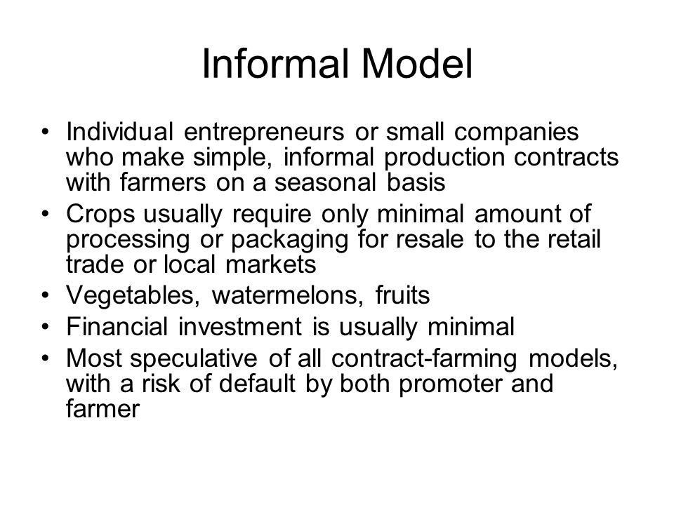 Contract Farming by Rudy van Gent. - ppt download