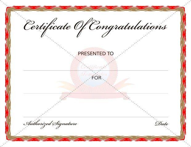 Congratulation Certificates | Certificate Templates