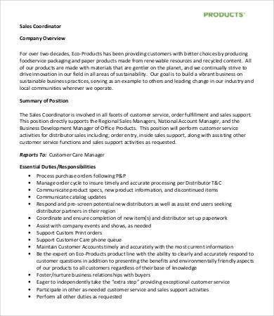 Sales Job Description - 9+ Free Word, PDF Documents Download ...