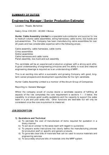 Sales Engineer Job Description. Industrial Sales Engineer Job ...