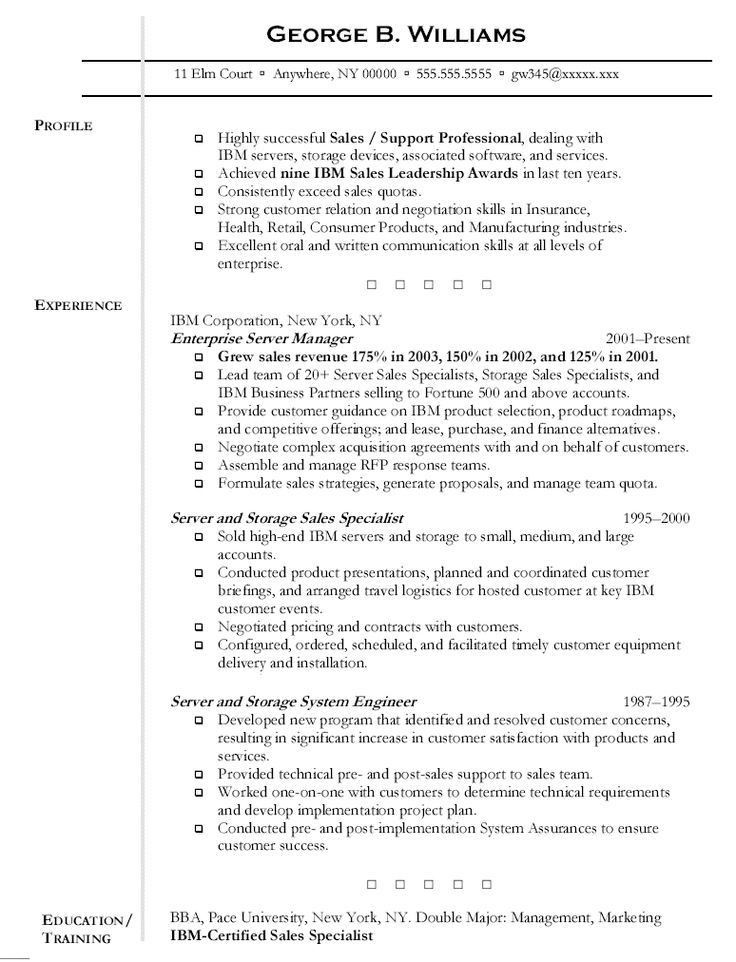 Resume Outline Example - uxhandy.com