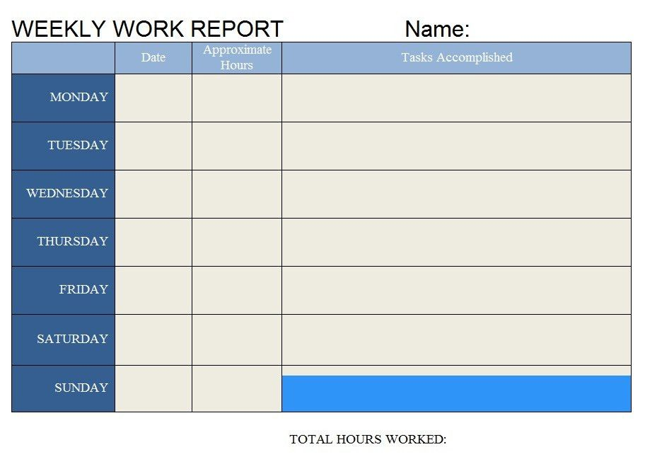 Work Report Template - Contegri.com