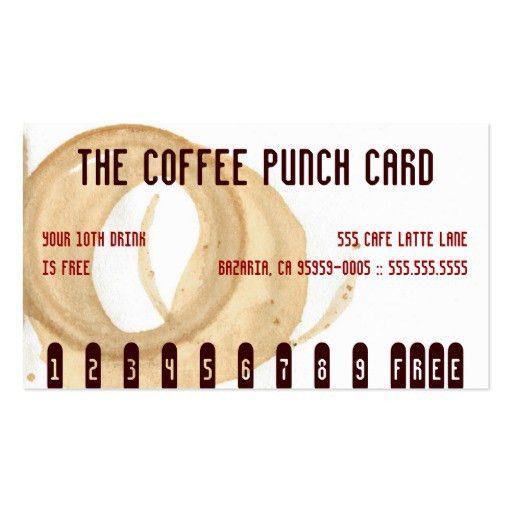 Free drink Business Card Templates   BizCardStudio