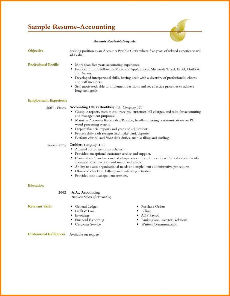 accounting resume objective accounting resume examples beautiful