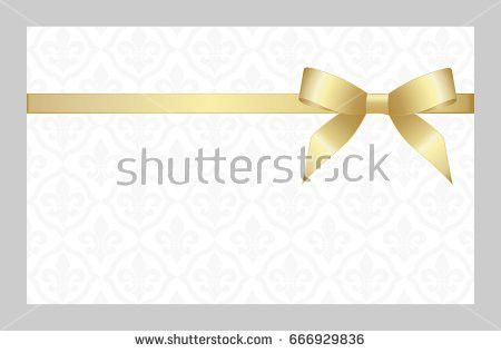 Gift Card Red Ribbon Bow Gift Stock Vector 537467425 - Shutterstock