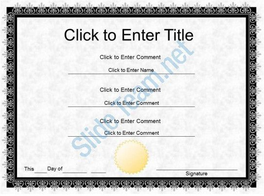 Employee Award diploma Certificate Template of Completion ...