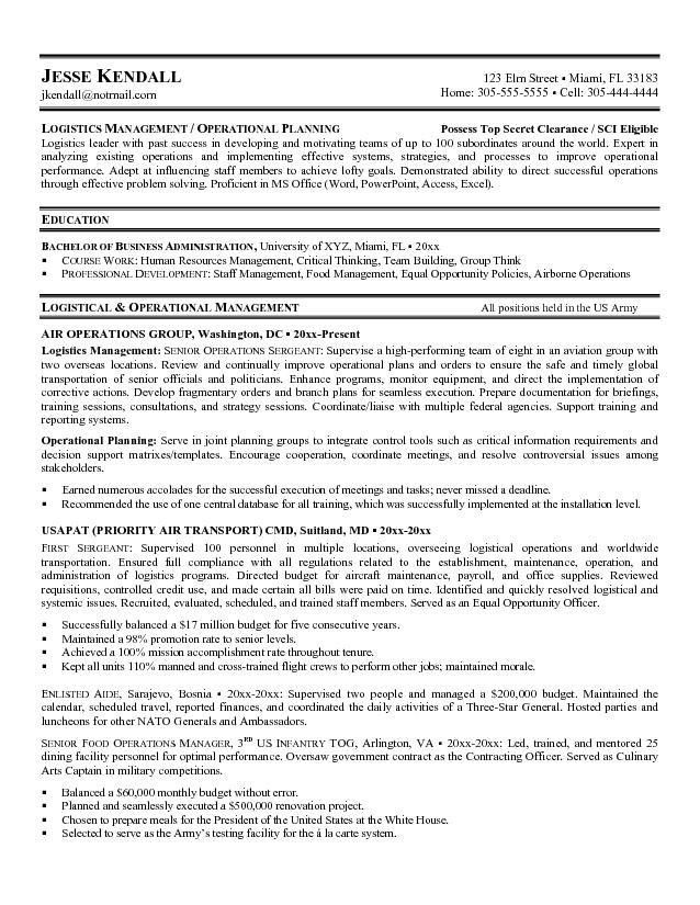 Military Resume Templates. Government Resume Template Click Here ...