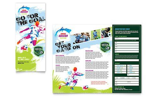 Sports & Fitness Pamphlets | Templates & Designs