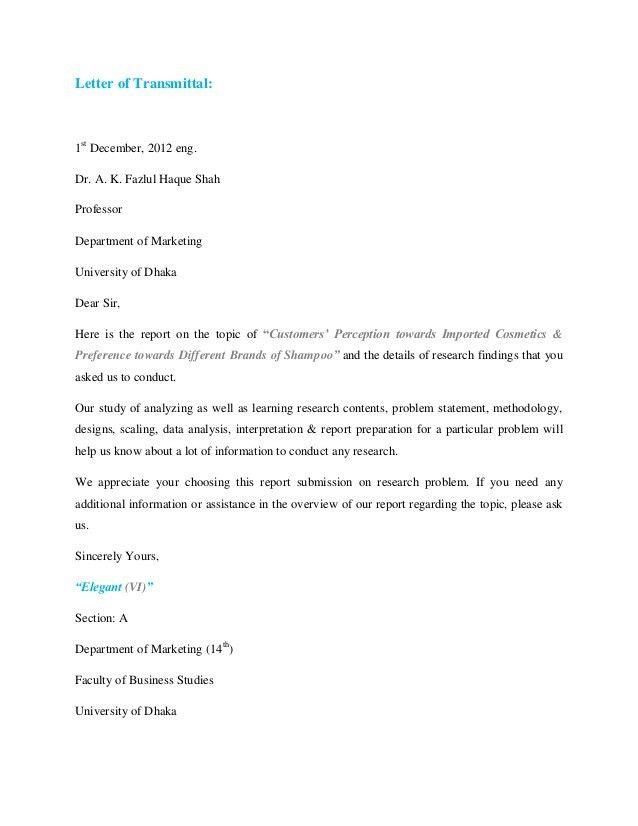 Marketing Research Report Proposal [Elegant (VI)]