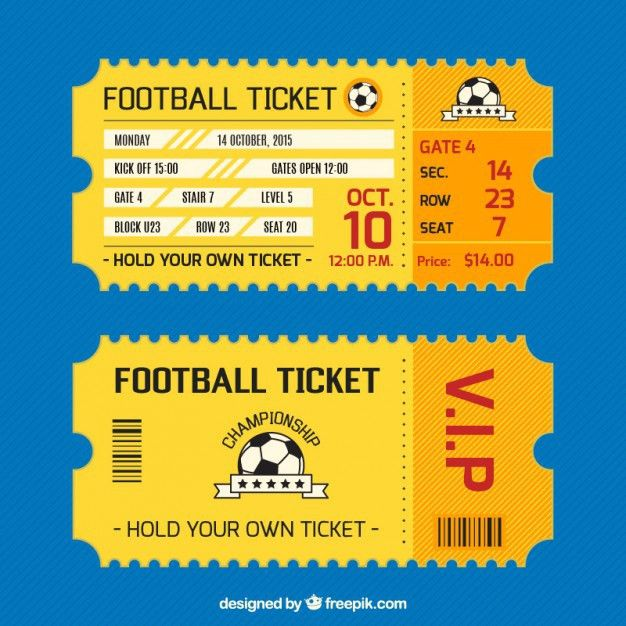 Football Ticket Card Vector | Free Download