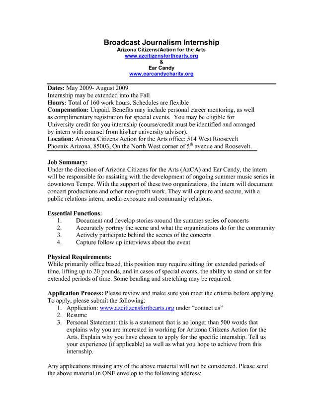 20+ Excellent Journalism Intern Resume Examples : Vinodomia