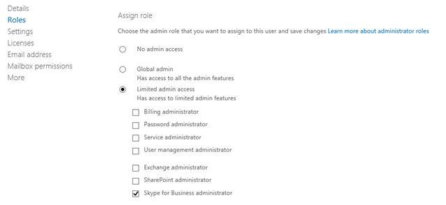Managing Skype for Business Online Administrator Rights | Inside ...