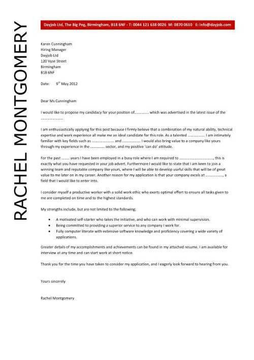 Sample Employment Cover Letter. Image Download Sample Cover Letter ...