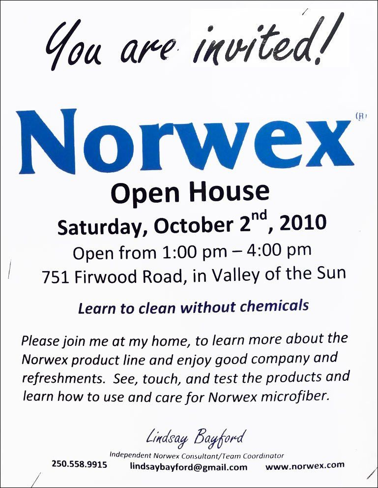 Norwex Party Invite Template - cloveranddot.Com