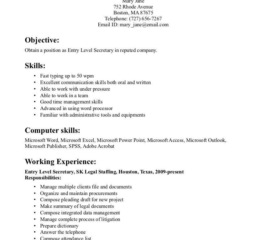 homely design secretary resume examples 16 corporate legal