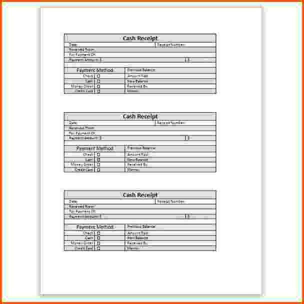 11+ cash receipt template word | Survey Template Words