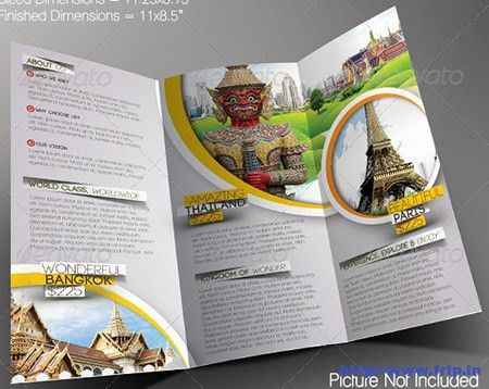 30+ Best Travel Agency Trifold Brochure Print Templates | Frip.in