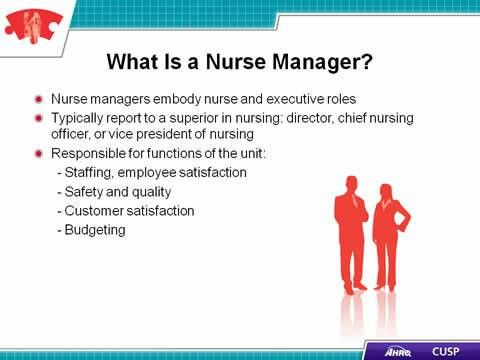 CUSP Toolkit, The Role of the Nurse Manager, Facilitator Notes ...
