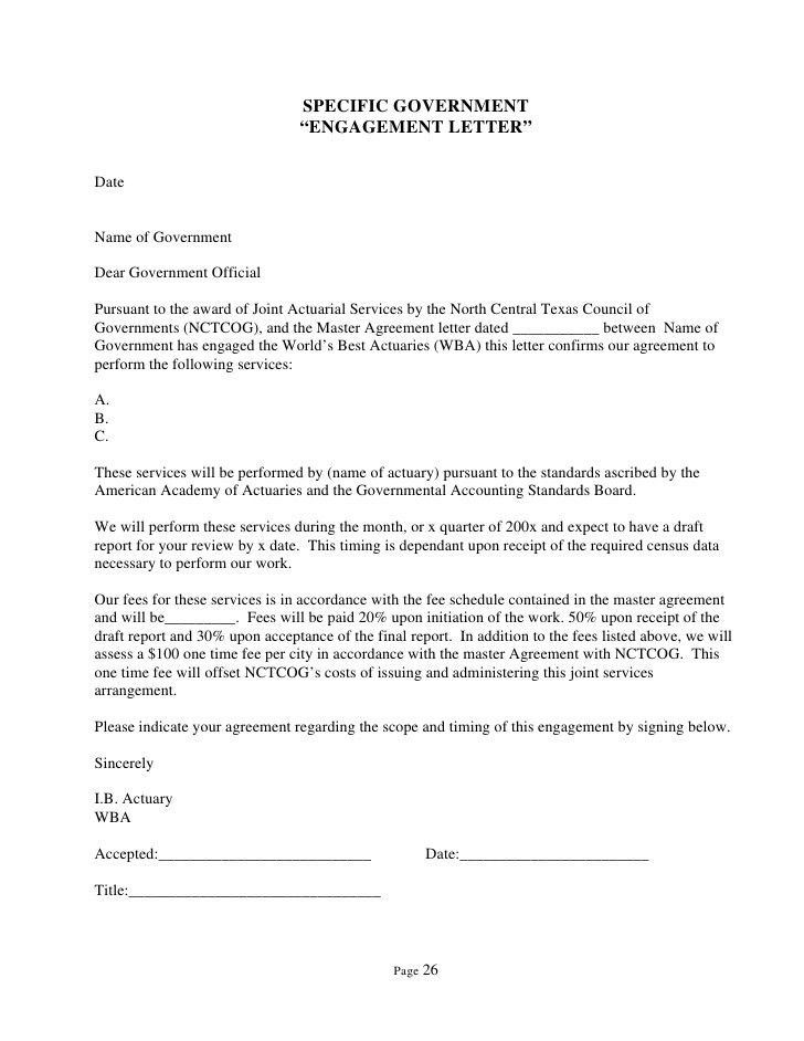 North Central Texas Council of Governments RFP –Actuarial ...