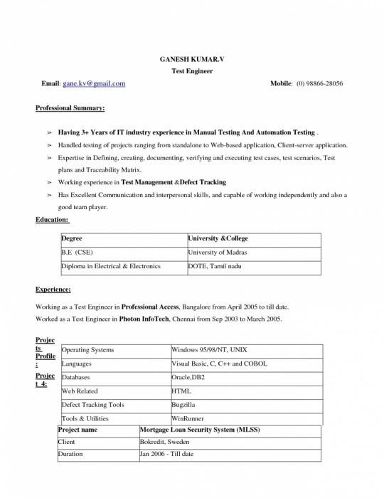 The Brilliant Resume Format Download In Ms Word 2007 | Resume ...