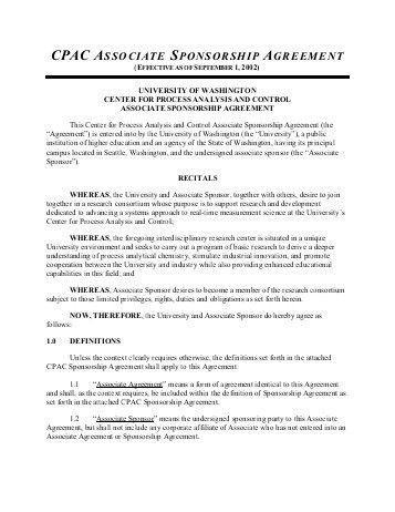 DISCLOSURE OF FISCAL SPONSORSHIP AGREEMENT THIS IS ...
