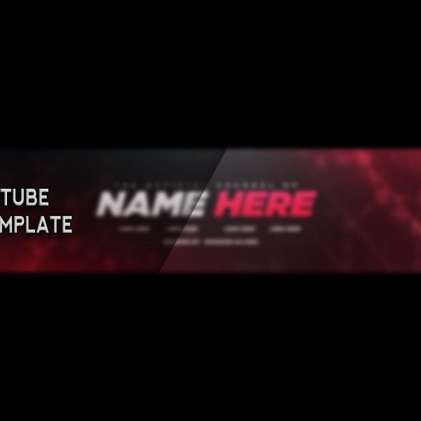 Free Youtube Banner Template! – Photoshop (2017) – Youtube with ...