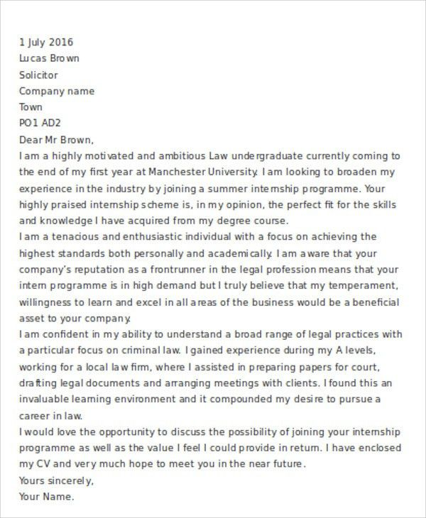 9+ Legal Cover Letter - Free Word, PDF Format Download | Free ...
