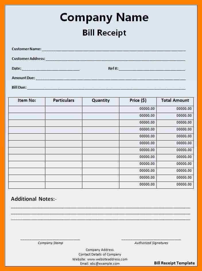 Sample Medical Invoice. Printable Blank Medical Receipt Template ...