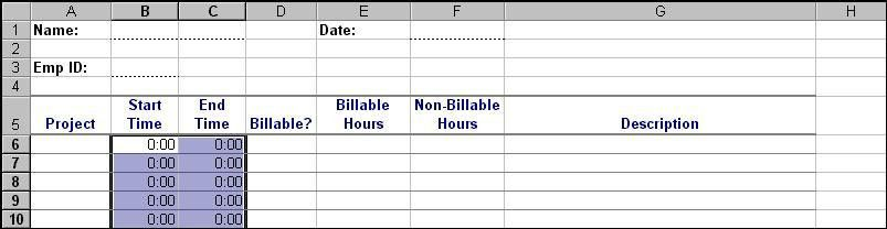 Create a timesheet template to help track your billable hours ...