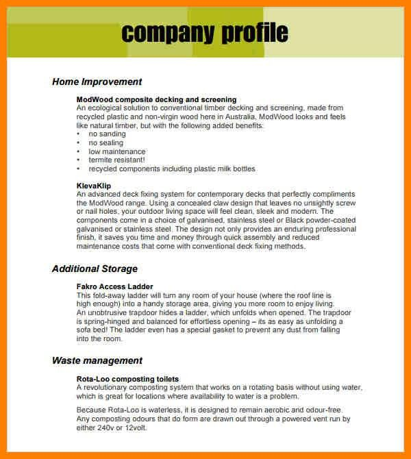 Business Profile Template. 3+ Business Profile Template Pdf 3+ ...