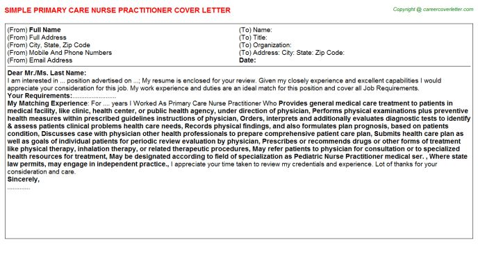 Psychological Wellbeing Practitioner Cover Letters