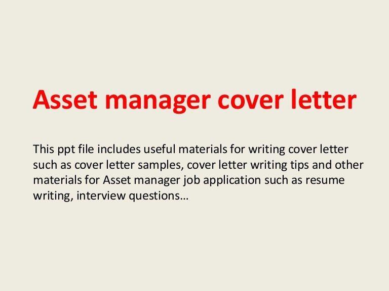 Investment Management Cover Letter President Finance Cover Letter - Asset management analyst cover letter