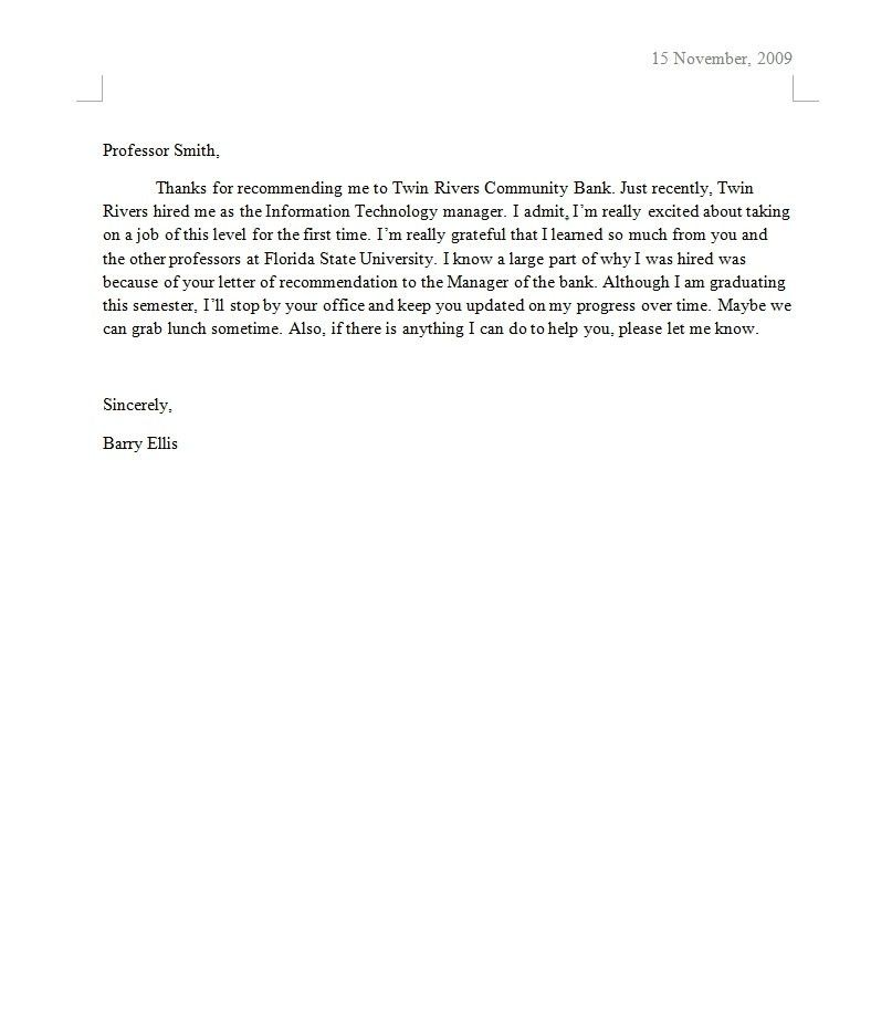 Good News Business Letter Example | The Best Letter Sample